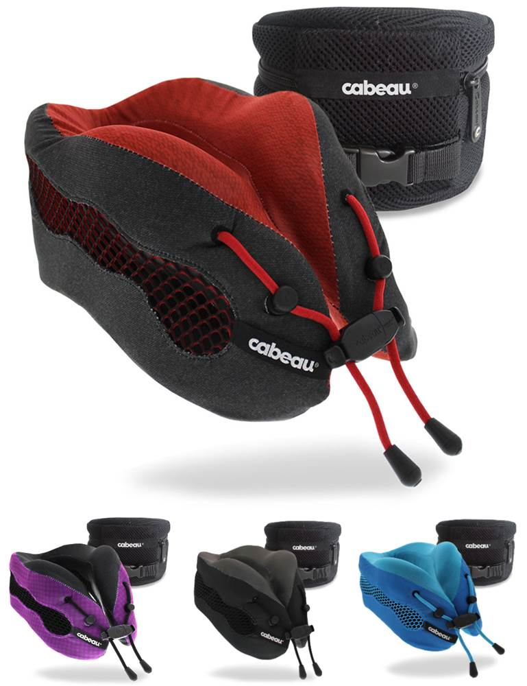 Cabeau Evolution Pillow.Cabeau Evolution Cool 2 0 Memory Foam Travel Pillow With Ear Plugs And Carry Bag
