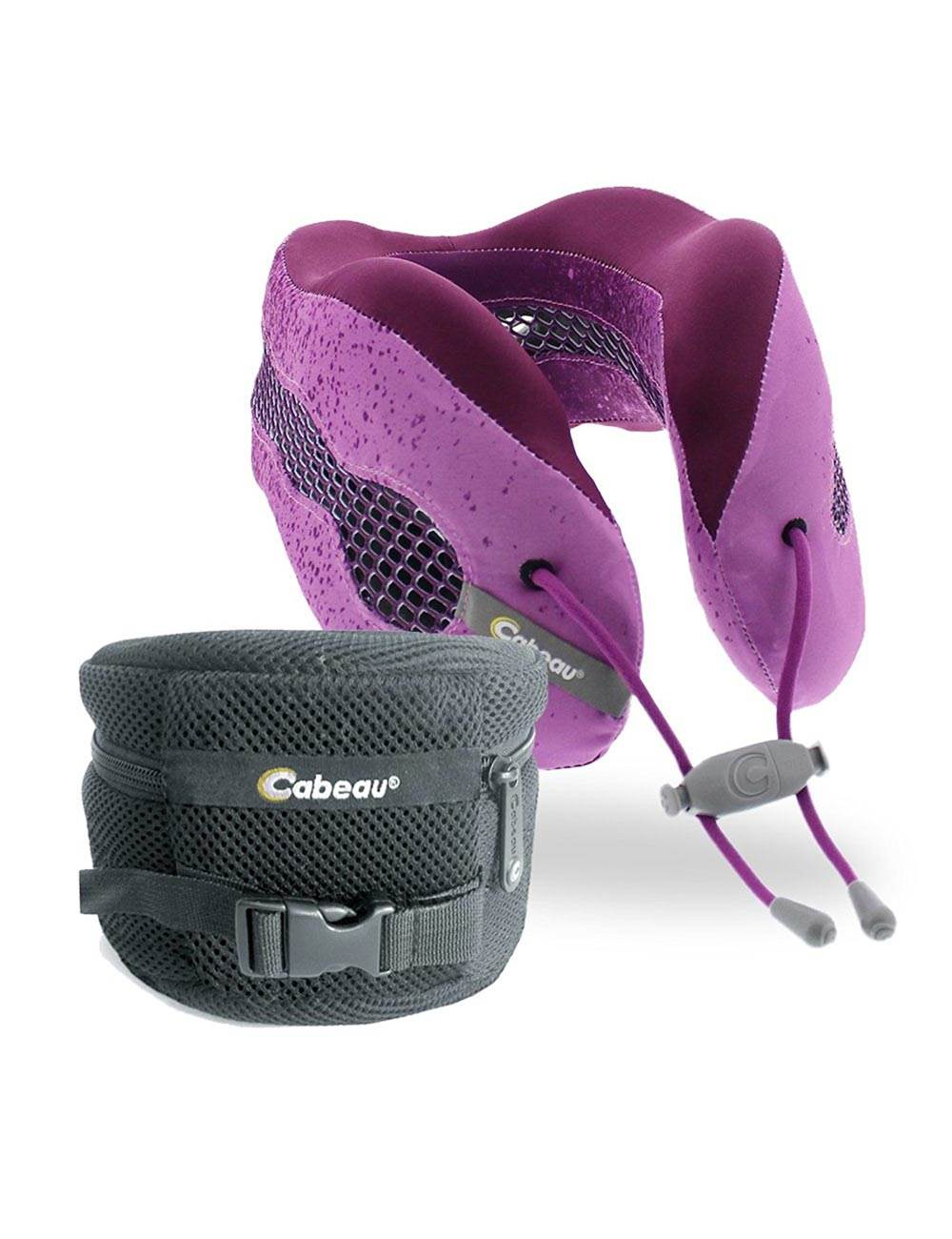 Evolution Cool Memory Foam Travel Pillow With Earplugs Cabeau By Cabeau Evolution Cool