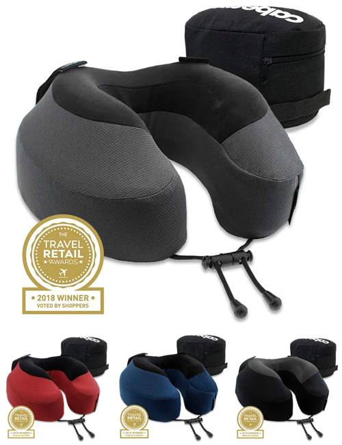 Cabeau Evolution S3 Memory Foam Travel Pillow With Seat