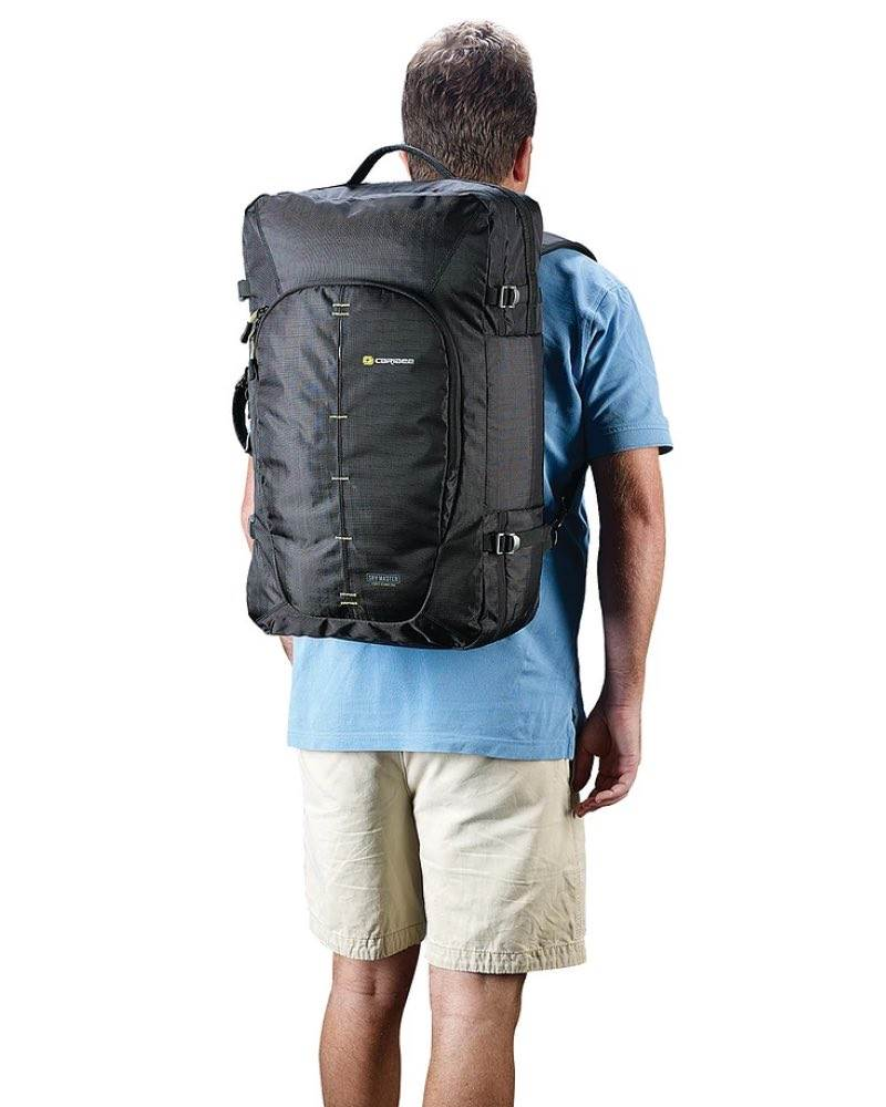 Caribee   Sky Master 40 Carry-On - Black  Detachable side shoulder strap   Concealable rear shoulder straps allow you to wear this bag as a backpack  ... 6f3bc8174a7b4