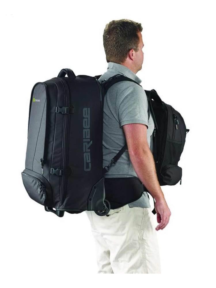 e538b5cc3344 Caribee Sky Master 70 Wheeled Trolley Backpack - Black