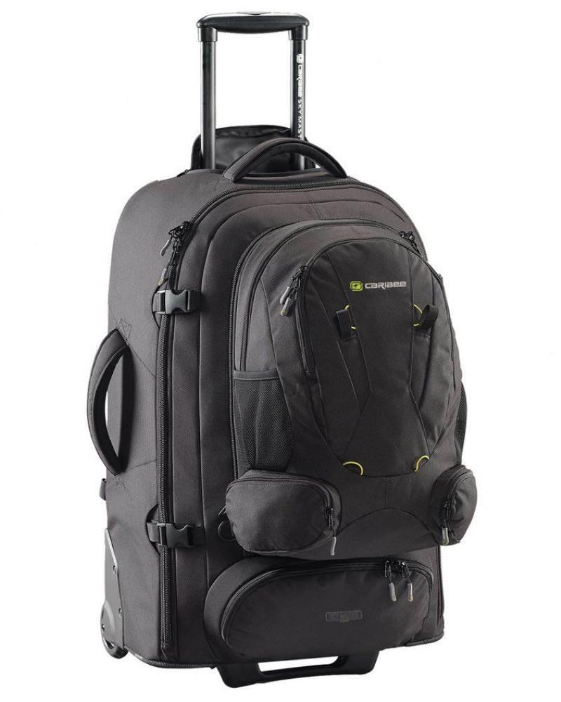 16da9c93886e Caribee Sky Master 80 II Wheeled Trolley Backpack - Black (2019 Model)