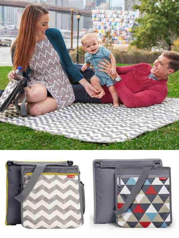 Central park outdoor blanket and cooler bag skip hop by for Au maison picnic blanket