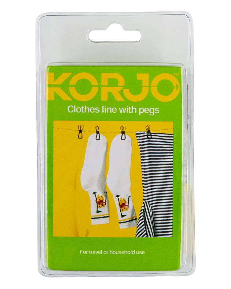 Korjo Clothesline Clothes Line With Pegs By Korjo Travel