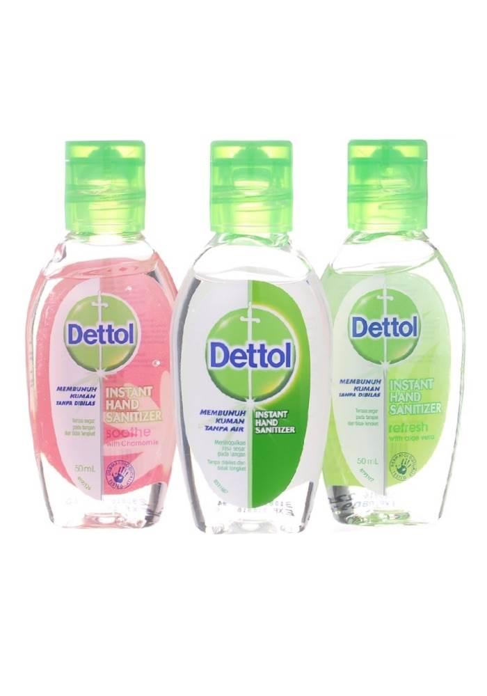 Travel Size Dettol Instant Hand Sanitiser - Assorted