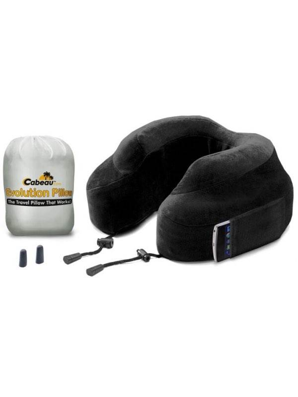 Memory Foam Evolution Travel Pillow With Ear Plugs 6