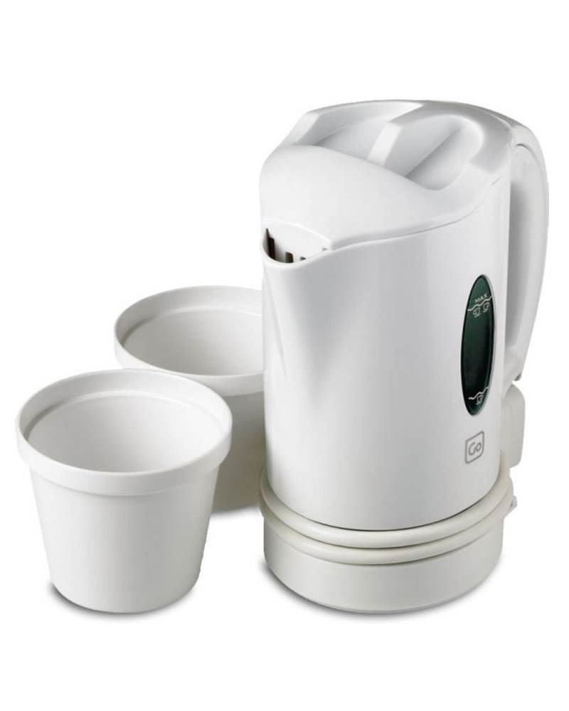 Go Travel Dual Voltage Travel Jug Kettle White By Go