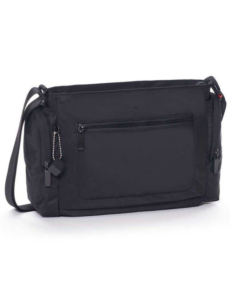 6a4d02a7ad57 Hedgren COMMUTER Horizontal Crossover Bag with RFID - Black · Front  exterior zippered pocket