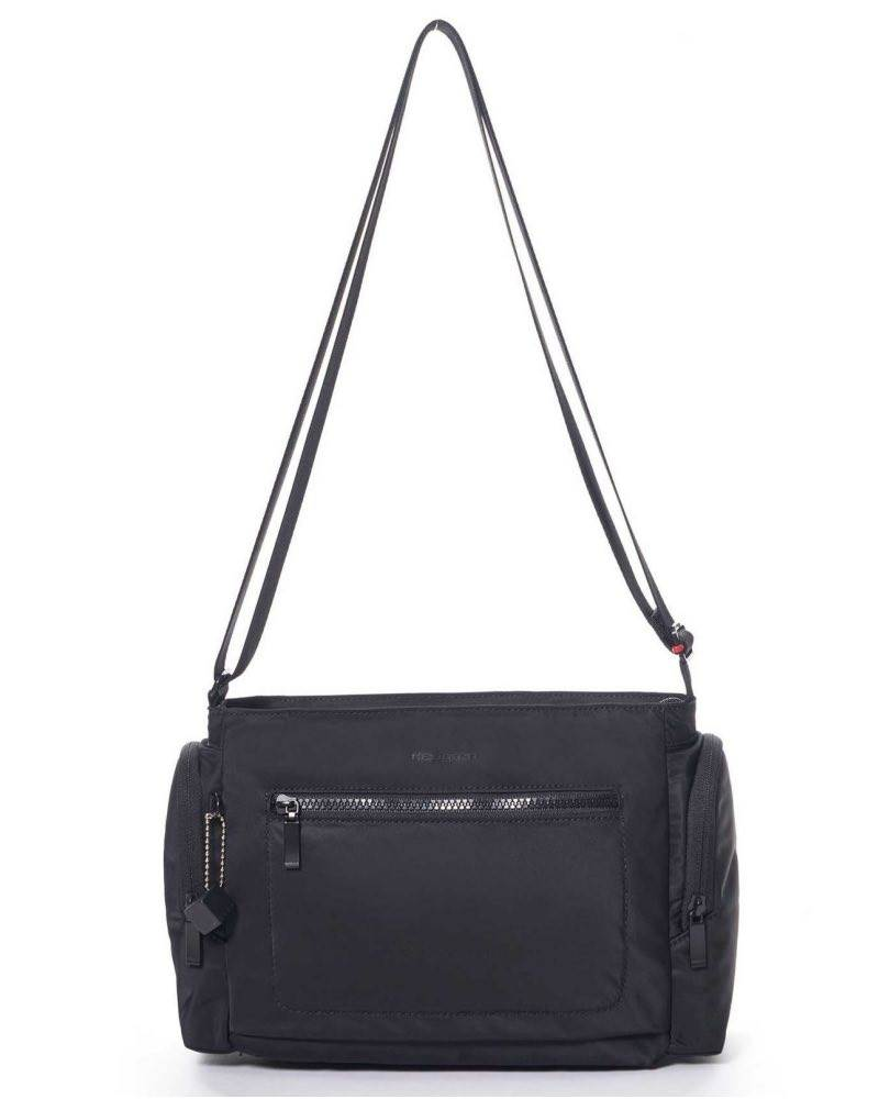 Hedgren COMMUTER Horizontal Crossover Bag with RFID - Black by Hedgren  (HITC09.003) be2065bcf6ccd
