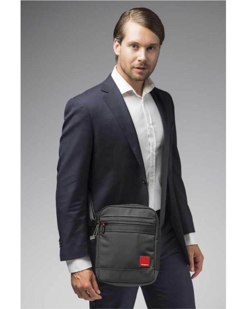f0f27c0a1 Hedgren DESCENT Men's Vertical Shoulder Bag with Tablet Pocket ...