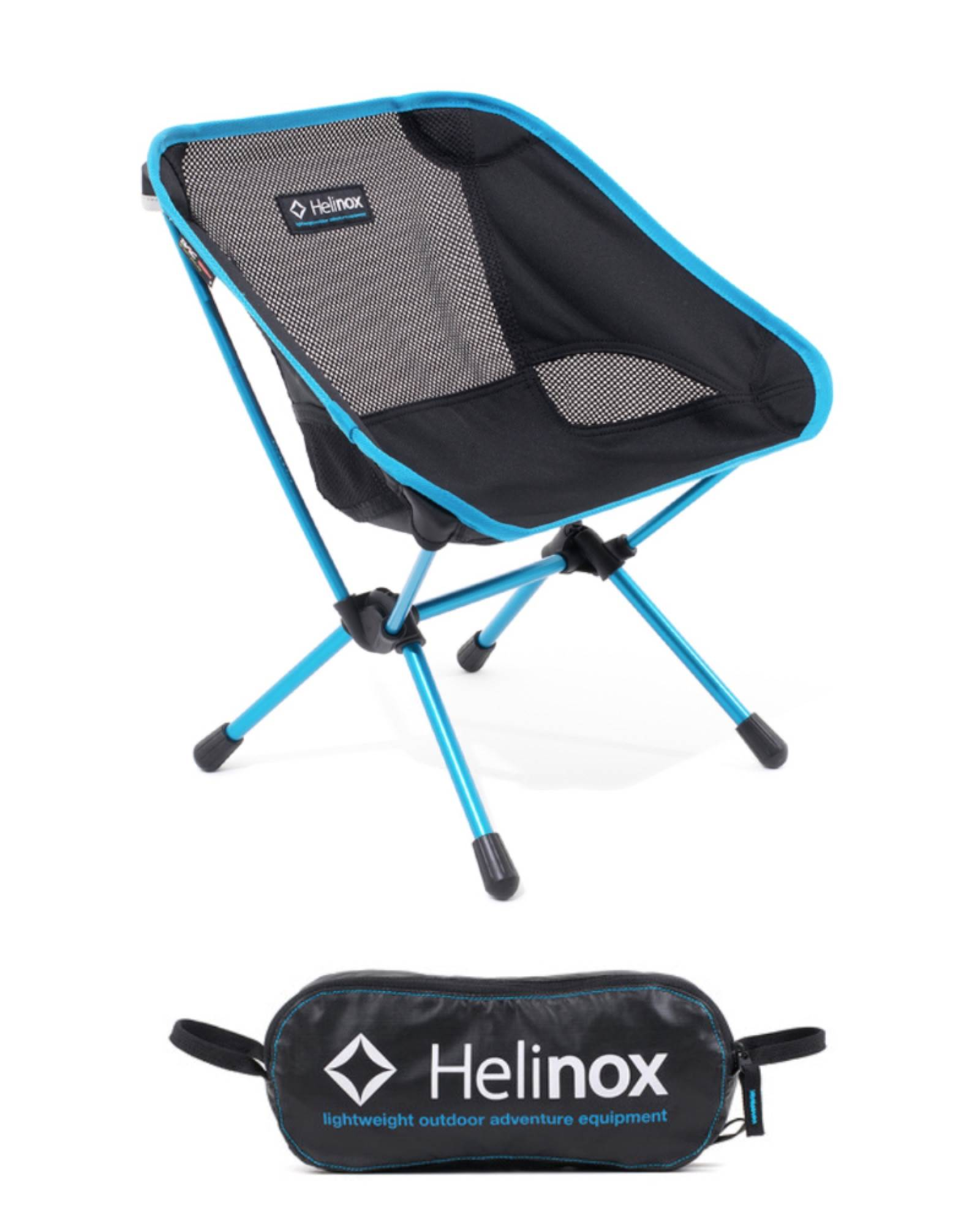 Chair One Mini - Lightweight Kids C&ing Chair - Black / Cyan  sc 1 st  Travel Universe & Helinox Chair One Mini - Lightweight Kids Camping Chair - Black ...