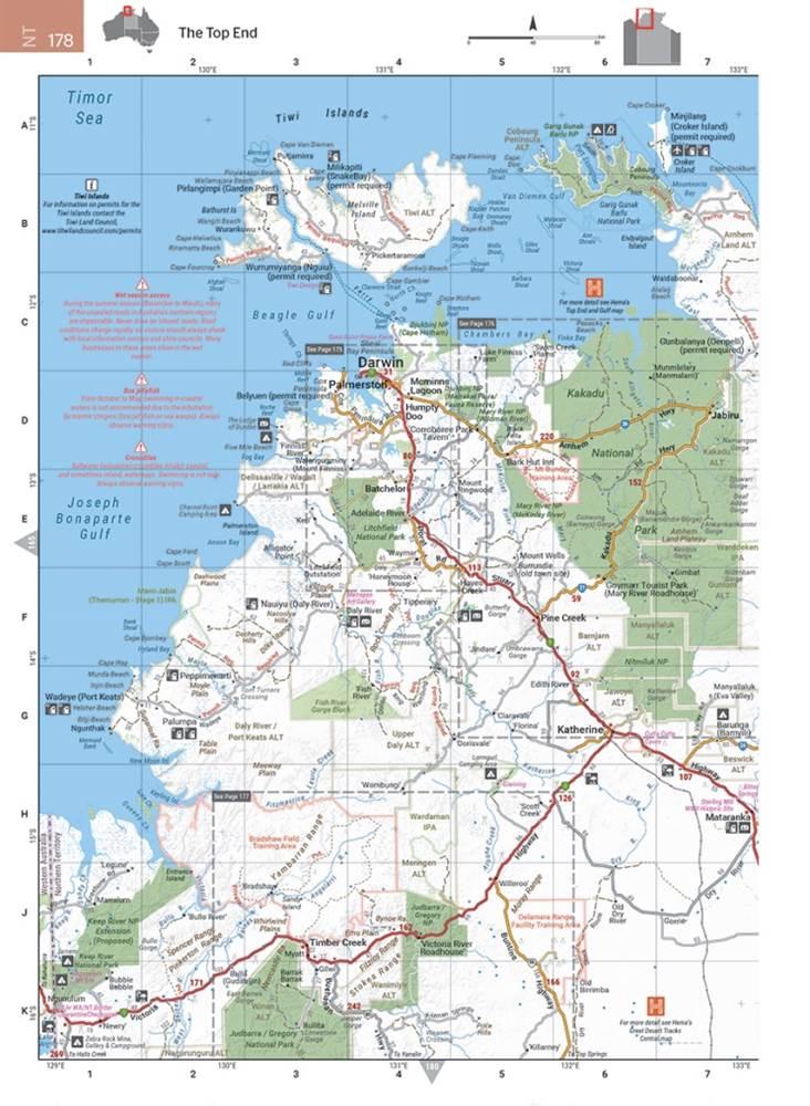 4wd Map Of Australia.Hema Australia Road And 4wd Touring Atlas Edition 12 Spiral Bound