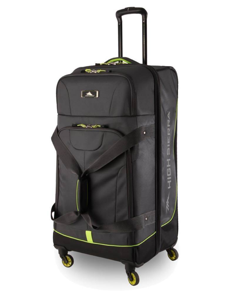 High Sierra   AT Pivot - 68cm 4 Wheel Spinner Duffle Bag - Mercury   Zest 2eef8e32693ec