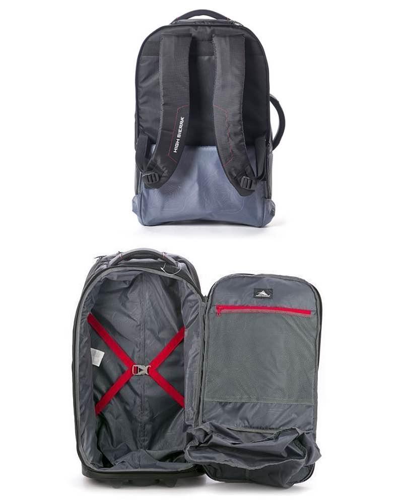 ec9683a982a ... High Sierra Composite V3 - 56 cm Wheeled Duffle with Hidden Back Straps  - Black ...