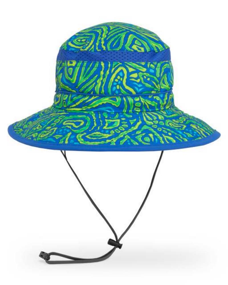 Kids fun bucket hat child green fossil