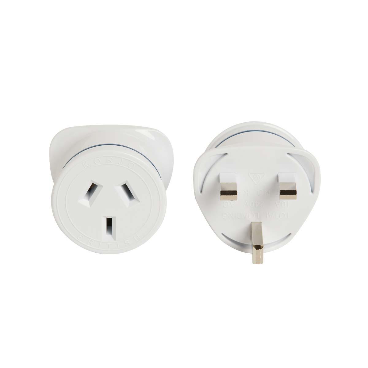 Korjo Electrical Adaptor Au To Uk Great Britain By