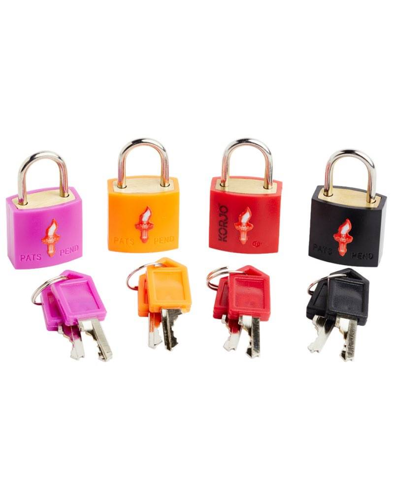 Pack of 2 Travel Luggage Bag Padlocks Small Suitcase Locks with 4 Keys for Laptop Backpack Handbag Red /& Yellow
