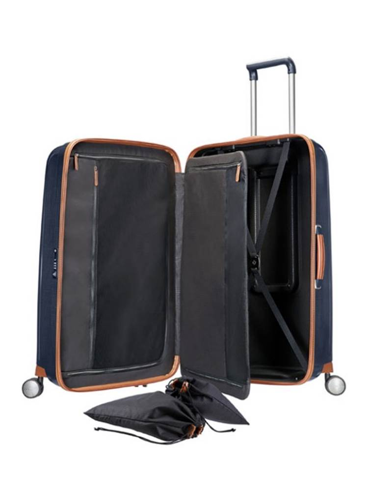 c5e8f2a1ca4 ... Samsonite Lite-Cube DLX : 55 cm Spinner Wheeled Carry-On - Midnight Blue  ...