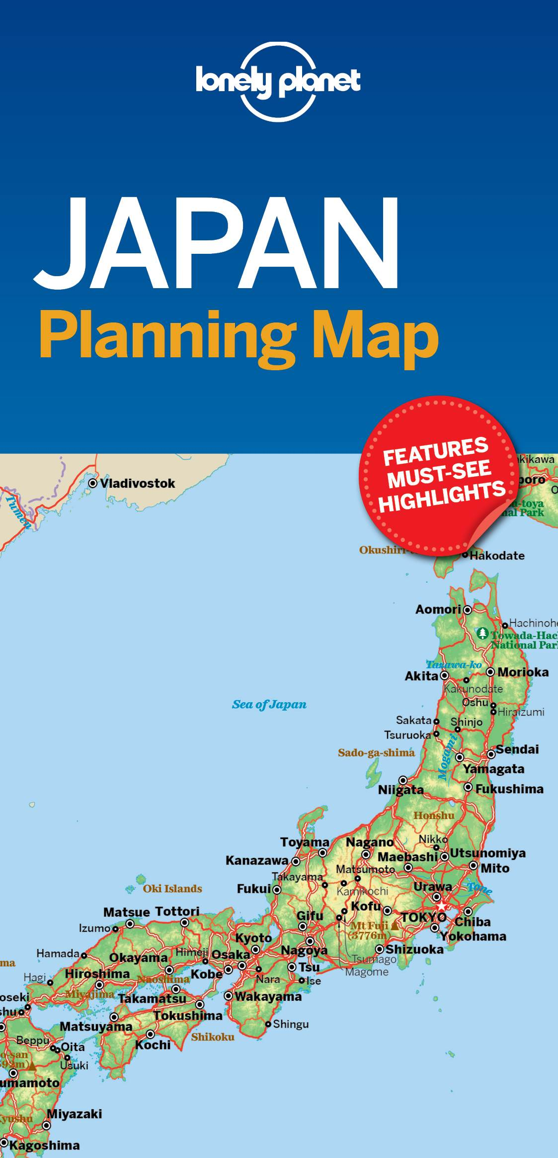 Lonely Planet India Planning Map 1st Ed.