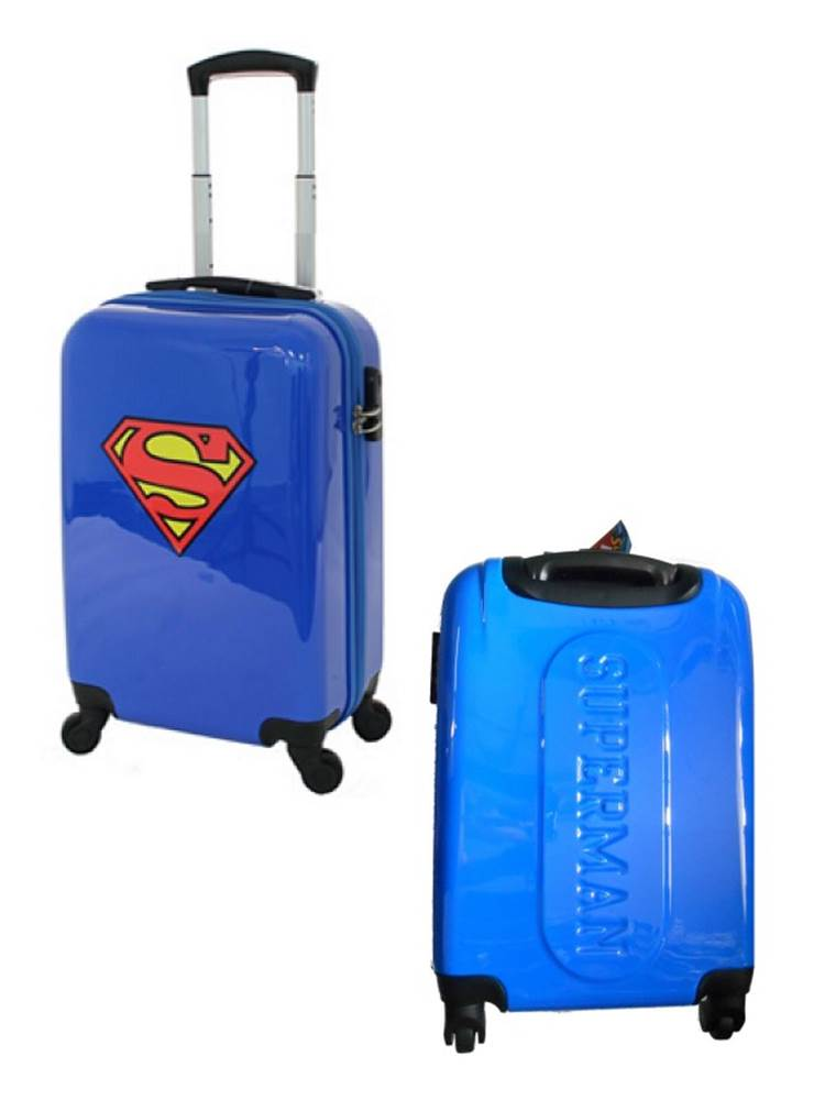 DC Comics Superman : Carry-On Cabin Luggage Spinner 19 inch by ...