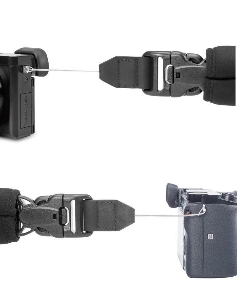 8c12f88a865 ... Pacsafe Carrysafe 75 GII Anti-theft Camera Neck Strap - Black -  PS15259100 ...