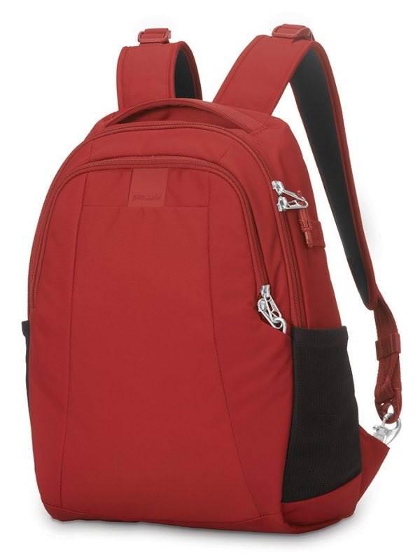 Pacsafe metrosafe ls200 shoulder bag vintage red + FREE