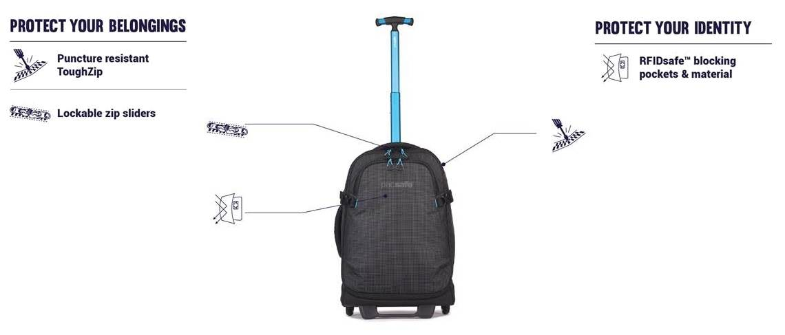 Pacsafe Anti Theft Luggage Wheeled and Carry On