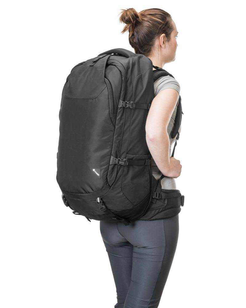 cb2881dee ... Pacsafe Venturesafe EXP65 - Anti-Theft 65L Travel Pack Backpack - Black  - PS60361100 ...