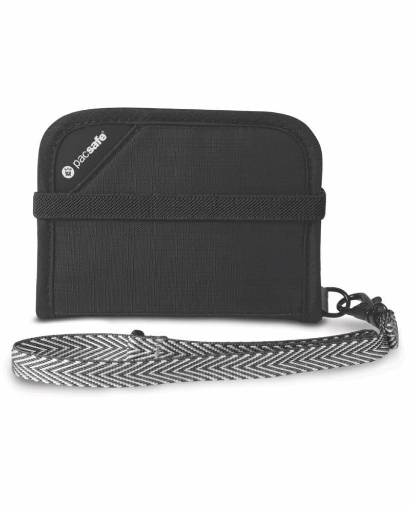 bfa909cd029 Anti-Theft Technology  Pacsafe RFIDsafe V50 - RFID Blocking Compact Wallet  - Black - PS10551100 ...