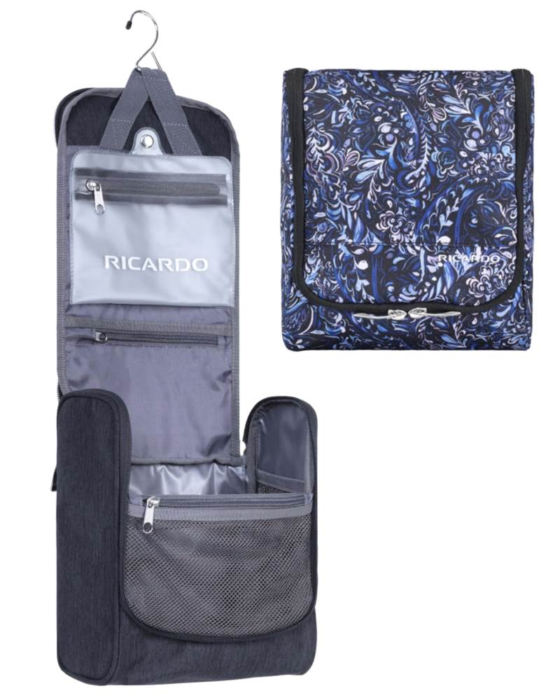 Ricardo Essentials 2.0 Travel Organiser - Hanging Toiletry Kit by Ricardo  Beverly Hills Luggage (Ess-2-0-Travel-Organiser) a6a9943f42000