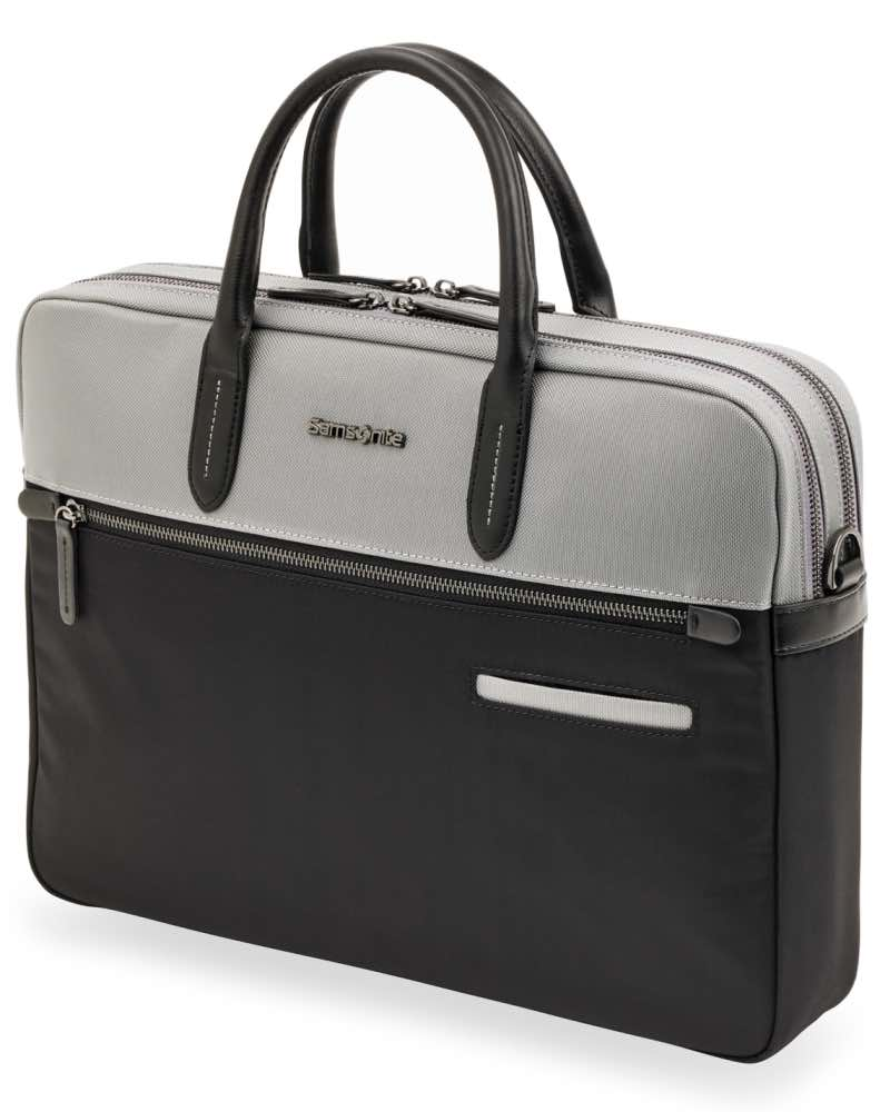 7687c248f9 ... Samsonite : Divinal - Medium Laptop Briefcase - Silver / Black -  87431-1807 ...