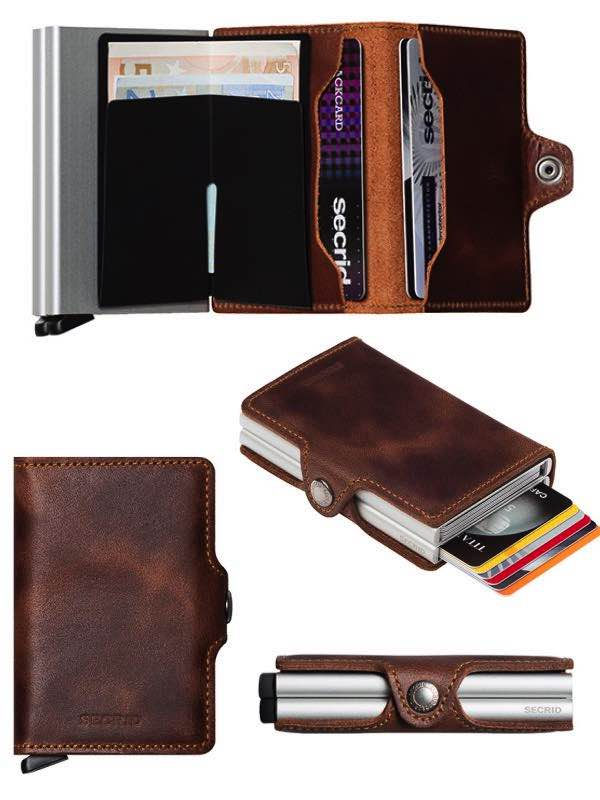 ae12ac511fe Secrid Twin Wallet - Original, Matte, Recycled and Vintage Leather ...