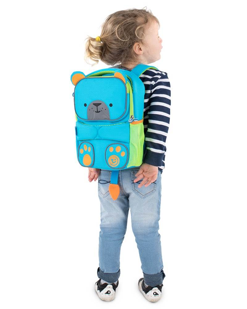 b39b8f9d94 ... ToddlePak Backpack - Blue Terrance  Adjustable straps  Adorable cute  tail ...